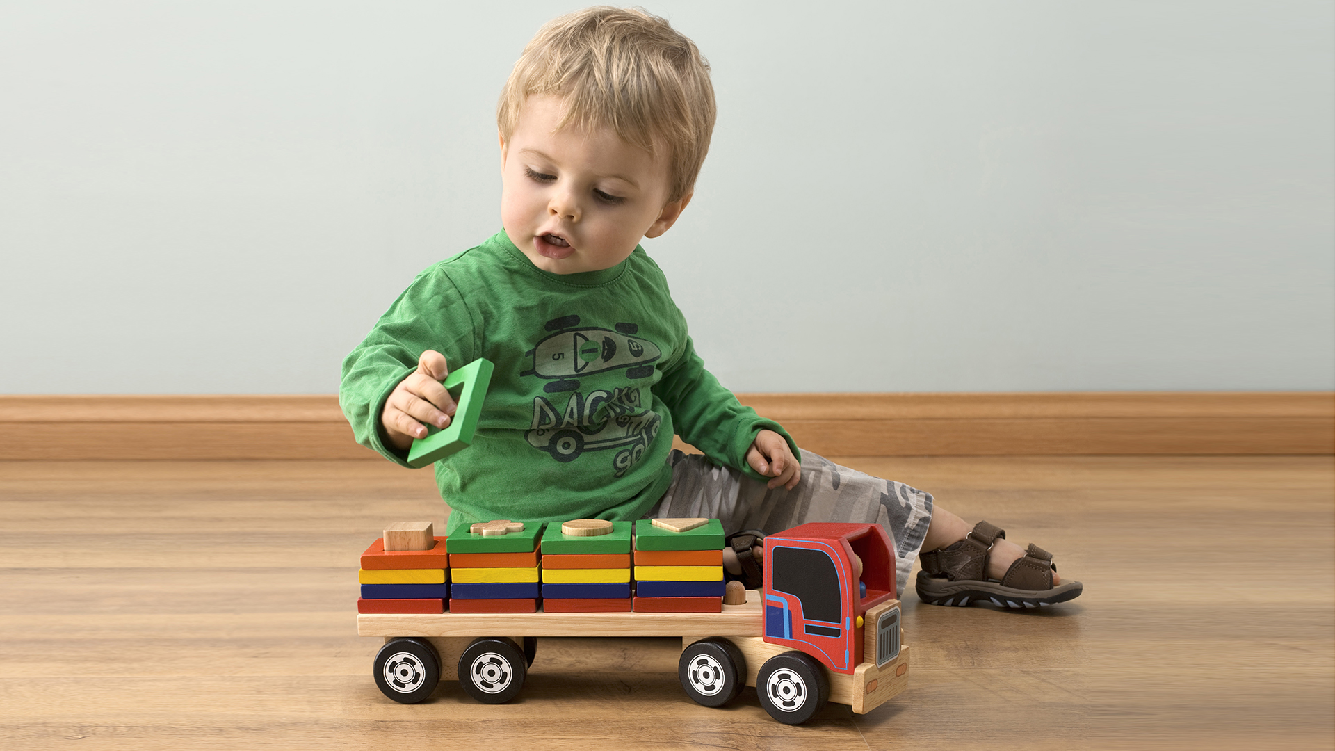 Getty Images stock child kid toy truck