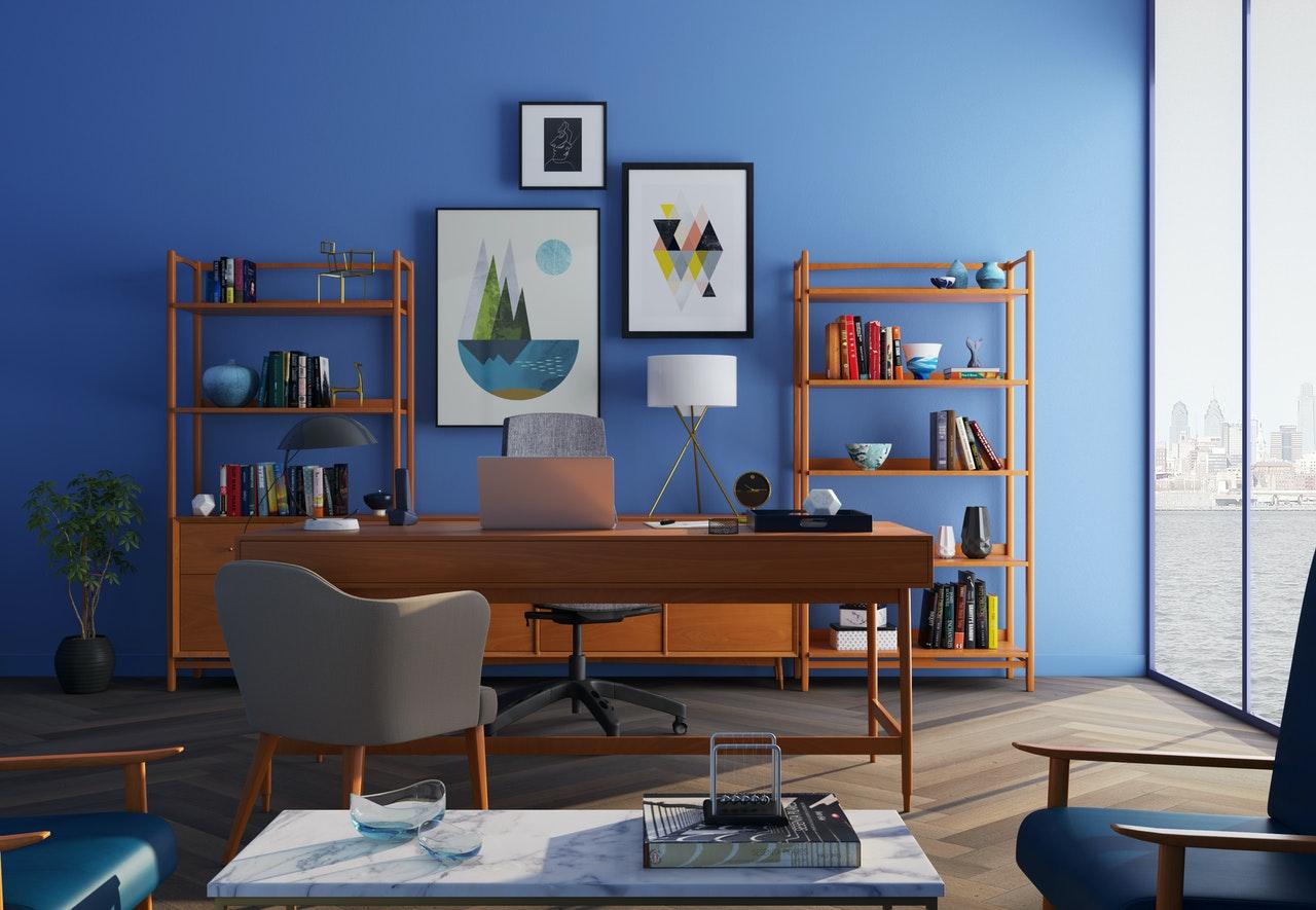 interior design of home office
