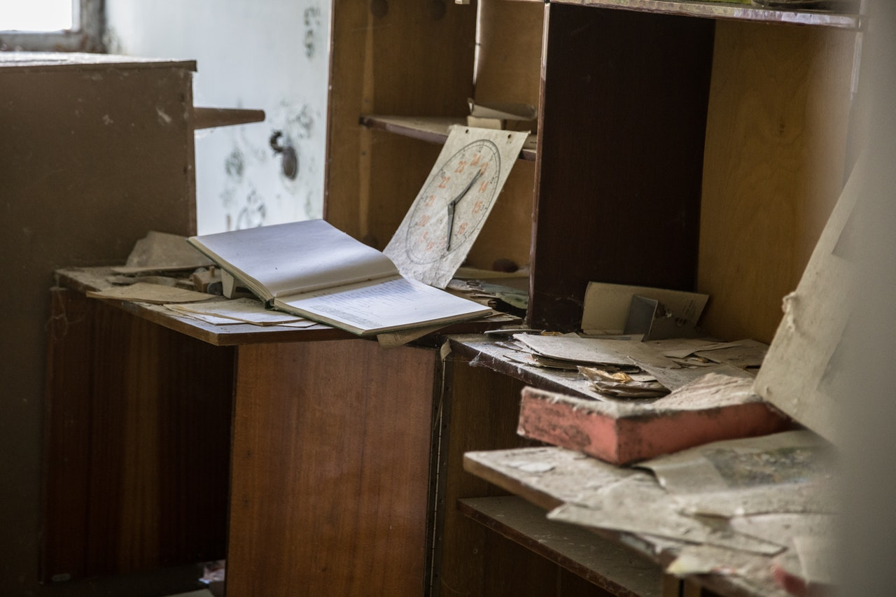 messy storage room
